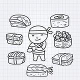 Muchacho del sushi Foto de archivo