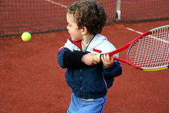 Muchacho del tenis Fotografía de archivo