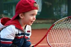 Muchacho del tenis Foto de archivo libre de regalías