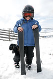 Muchacho el vacaciones del esquí Fotografía de archivo