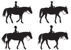 Muchacho en caballo ilustración del vector