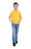 Muchacho en camisa amarilla Foto de archivo