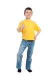 Muchacho en camisa amarilla Fotografía de archivo libre de regalías