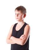 Muchacho en camisa negra Fotos de archivo