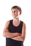 Muchacho en camisa negra Fotografía de archivo libre de regalías