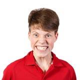 Muchacho en camisa roja Imagen de archivo