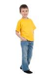 Muchacho en camiseta amarilla Imagen de archivo libre de regalías