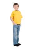 Muchacho en camiseta amarilla Fotografía de archivo libre de regalías