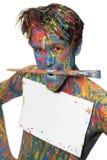 Muchacho en color Imagen de archivo libre de regalías