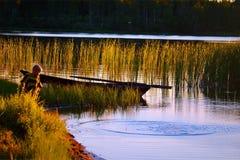 Muchacho en el agua Fotografía de archivo libre de regalías