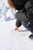 Muchacho en el invierno Foto de archivo libre de regalías