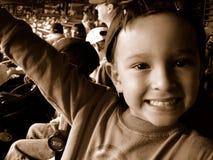 Muchacho en el juego de béisbol Fotografía de archivo libre de regalías