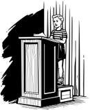 Muchacho en el podio Fotografía de archivo libre de regalías