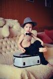Muchacho en el sombrero Fotos de archivo libres de regalías
