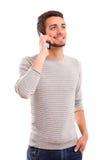 Muchacho en el teléfono Fotos de archivo libres de regalías