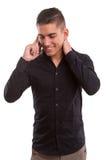 Muchacho en el teléfono Imagen de archivo libre de regalías