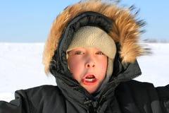 Muchacho en invierno Fotos de archivo