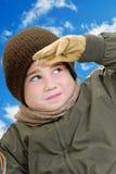 Muchacho en invierno Fotografía de archivo