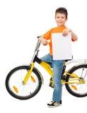 Muchacho en la bicicleta Foto de archivo libre de regalías