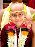 Muchacho en la ceremonia sagrada Imagen de archivo libre de regalías