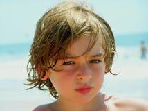 Muchacho en la playa Fotos de archivo libres de regalías