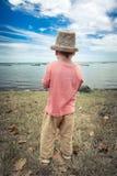 Muchacho en la playa Fotografía de archivo libre de regalías