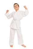 Muchacho en la ropa para los artes marciales Imagenes de archivo