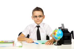 Muchacho en la sala de clase Imagen de archivo libre de regalías