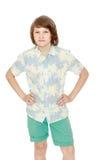 Muchacho en ropa del verano Imágenes de archivo libres de regalías