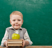 Muchacho en sala de clase Fotos de archivo