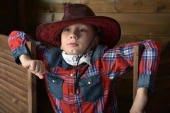 Muchacho en sombrero de vaquero Foto de archivo