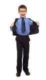 Muchacho en traje Imagen de archivo libre de regalías