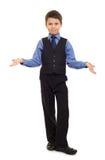 Muchacho en traje Fotografía de archivo libre de regalías