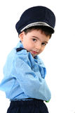 Muchacho en traje del poli Foto de archivo