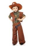 Muchacho en traje del vaquero Fotografía de archivo libre de regalías