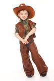Muchacho en traje del vaquero Foto de archivo