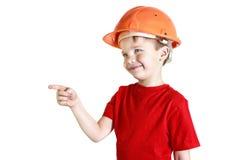 Muchacho en un casco foto de archivo libre de regalías