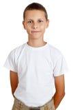 Muchacho en una camisa blanca Foto de archivo