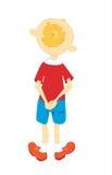 Muchacho en una camisa roja Imágenes de archivo libres de regalías