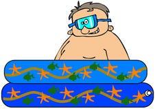 Muchacho en una piscina del kiddie Fotografía de archivo