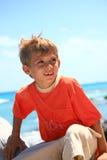 Muchacho en una playa Imágenes de archivo libres de regalías