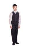 Muchacho en uniforme escolar Imagenes de archivo