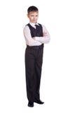 Muchacho en uniforme escolar Imagen de archivo