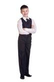 Muchacho en uniforme escolar Foto de archivo libre de regalías