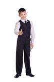 Muchacho en uniforme escolar Fotos de archivo