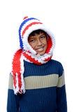 Muchacho en vestido del invierno Imágenes de archivo libres de regalías