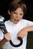 Muchacho enojado foto de archivo