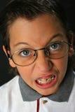 Muchacho enojado del estudiante Foto de archivo libre de regalías