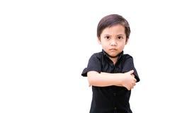 Muchacho enojado del niño de Asia imagen de archivo libre de regalías