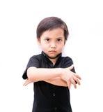Muchacho enojado del niño de Asia fotos de archivo libres de regalías